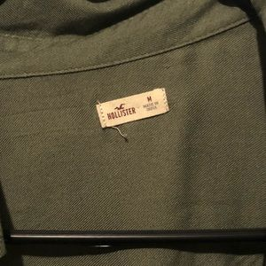 Olive Hollister Button Long Sleeve